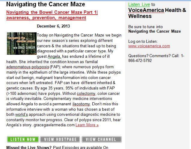 Navigating the Cancer Maze Grace Gawler Voice America