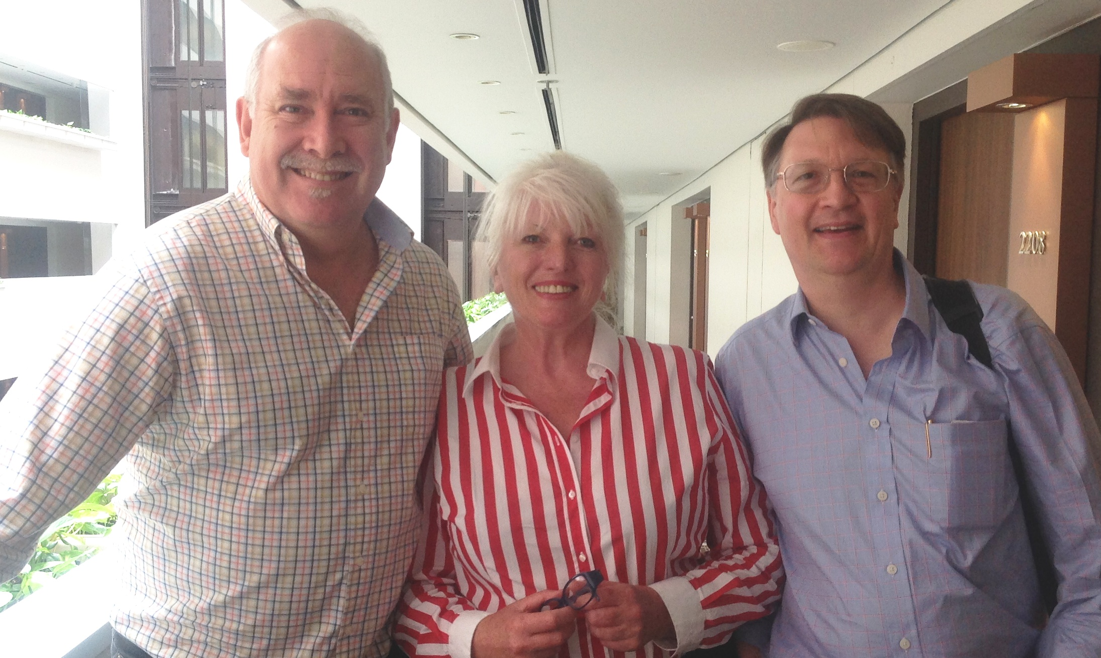 At this weeks Meeting of Minds in Brisbane Prof Coventry with Grace Gawler and Martin Ashdown