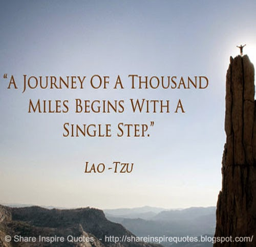 journey of a thousand miles begins with one small step